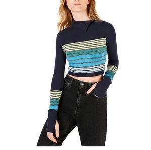 Free People Movement Crop Top Blue Size Small